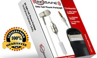 RF Safe Cell Phone Radiation Shield, Ferrite Bead and Air-tube Headsets Reduce Smartphone Radiation Risk