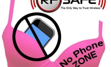 "RF Safe Supports Breast Cancer Awareness ""No Phone Bra Zone"" Cell Phone Radiation Safety"