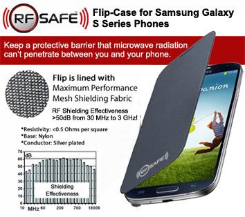 RF Safe Microwave Shielded Flip Case Samsung Galaxy S3 S4 Smartphones