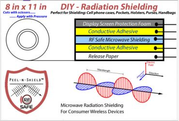 8x11 Peel-n-Shield Radiation Shielding