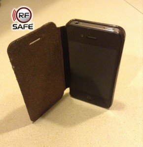 RF Safe radiation shielded flip cases for iPhone 4, 4s, 5, 5c, 5s