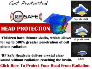 shield brain from cell phone radiation children at risk use air tube headset