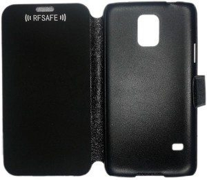 galaxy s5 rfsafe flip cover case radiation shield peelnshield
