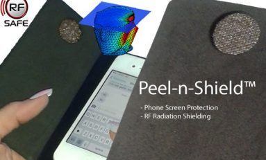 New Anti-Radiation Cell Phone Case with Peel-n-Shield™ Flip Cover Shield for Maximum Cell Phone Radiation Protection