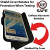 flip cover phone radiation protection when texting