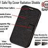 flip cover phone radiation shield