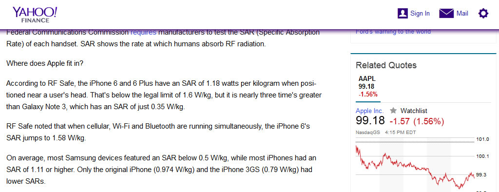 News on High Radiation iPhone 6 Cost Apple 7.8 Billion in One Day!