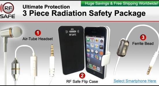 4 piece rf safe radiation safety package