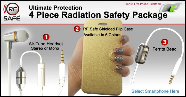 3 piece rf safe iPhone 6 radiation safety package
