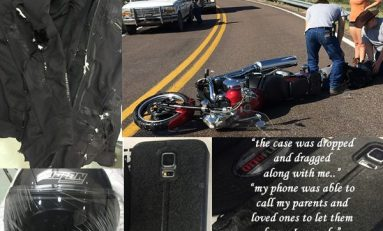 Motorcycle Crash: Safety Gear Destroyed - RF Safe Case Left Phone Unscathed!