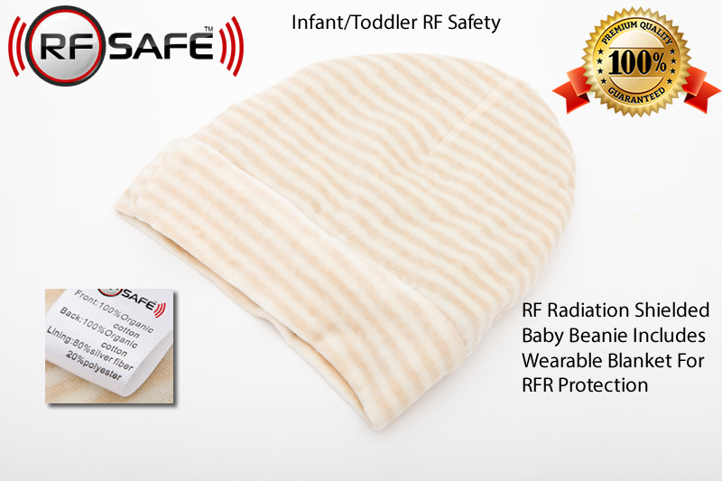 Infant-Toddler-Safety-RF Radiation Shielded Baby Beanie Wearable Blanket For RFR Protection