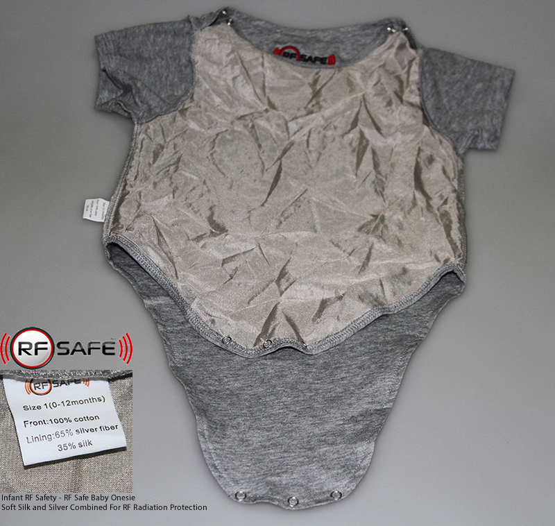 RF Safe Baby Onesie 0-12 Months RF Radiation Protection