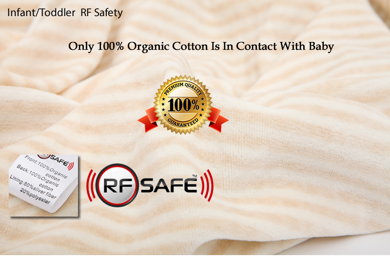 Toddler RF Safety – RF Radiation Shielded Baby Beanie with Wearable