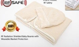 Toddler RF Safety – RF Radiation Shielded Baby Beanie with Wearable Blanket Protection