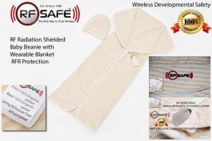 Wireless Developmental Safety RF Safe Infant and Toddler Beannie and Wearable Blanket