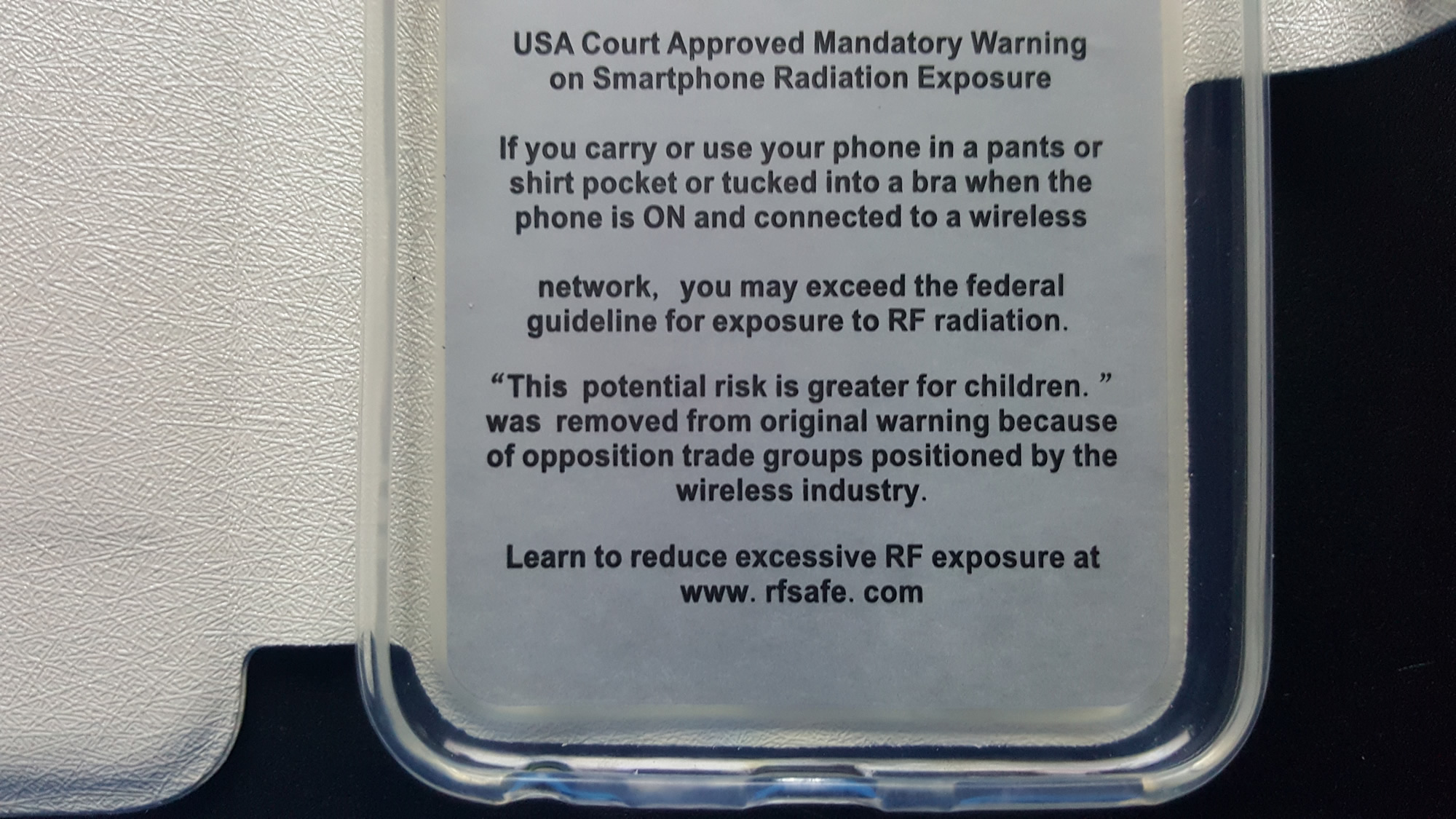 Berkeley Cell Phone Radiation Warning