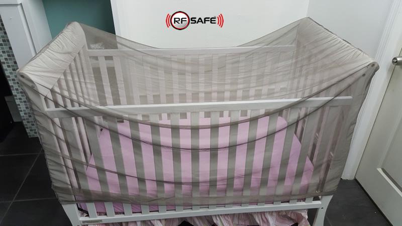 RFEMF Shielded Baby Crib Canopy RF Radio Frequency Safe