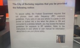 Known Conflict of Interest in Berkeley, CA Cell Phone Radiation Warning Case