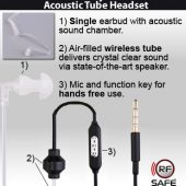 Radiation-Safe-Law-Enforcement-Style-Mono-Ear-Hook-Acoustic-Tube-Headset