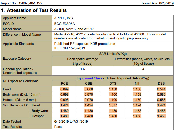 iphone-11-pro-sar-levels-fcc-report-apple-model-a2160-a2216-a2217-fccid-bcg-e3305a