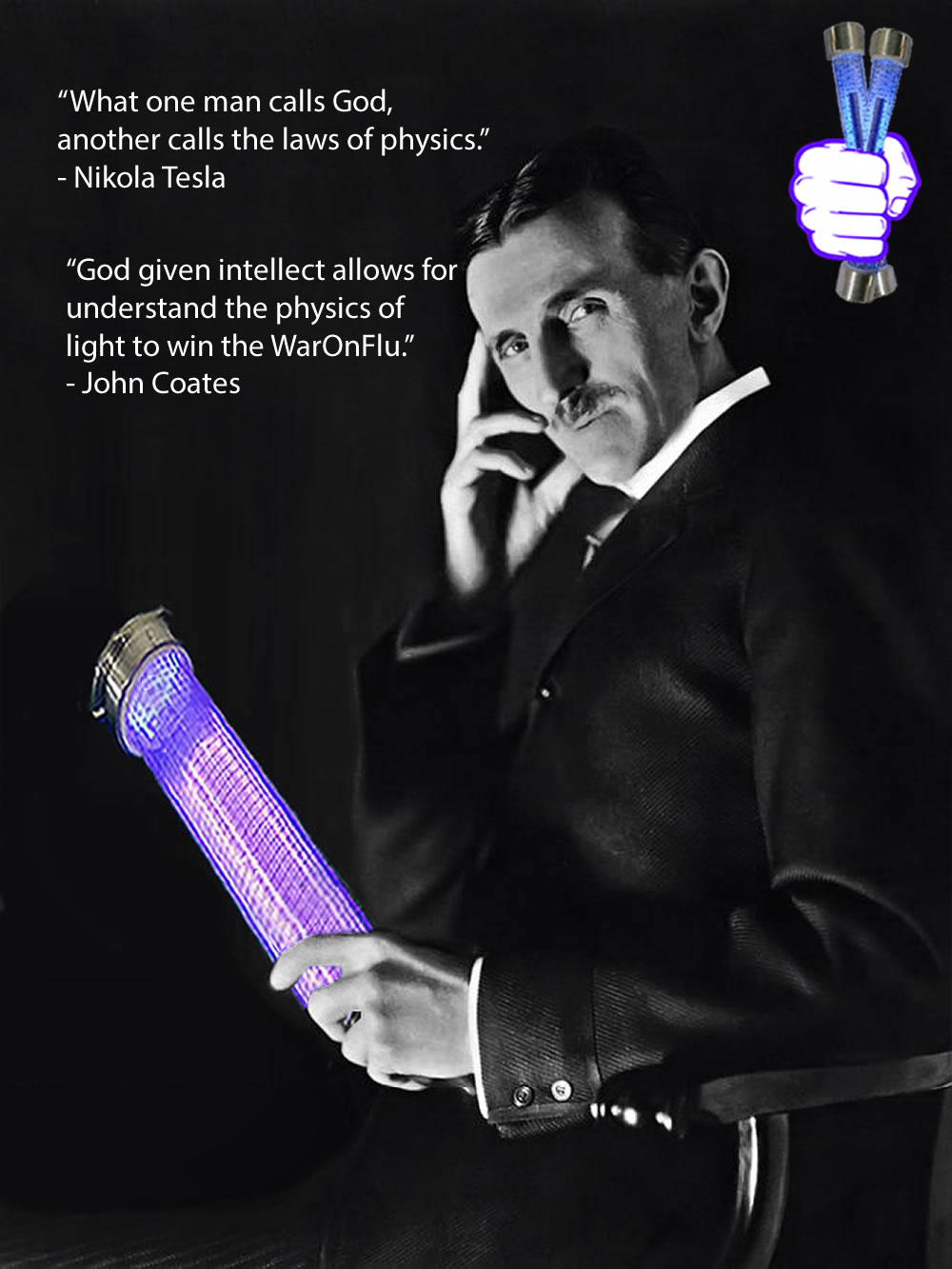 john-coates-quote-far-uvc-light-Nikola-Tesla-far-uvc-222nm-Light-beam-shield-highlander-em-shield-war-on-flu-excimer-krcl-lamps-high-frequency-virus-shield