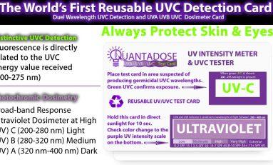 QuantaDose™ UVC Indicator UV Dosimeter UVC Light Test Card