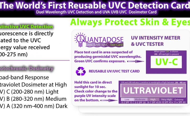 QuantaDose™ UVC Indicator UV Dosimeter UVC Light Test Card